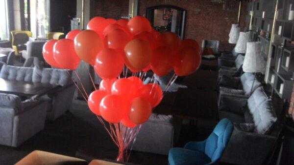 Оранжевые гелиевые шары